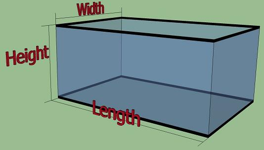 Aquarium Dimensions Standard Fish Tank