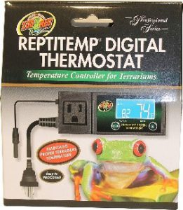 reptile thermostat multiple probes Zoo Med Reptitemp RT 600 digital thermostat controller