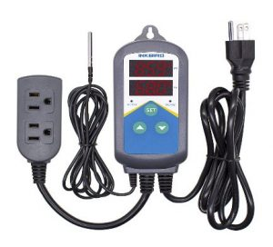 reptile thermostat multiple probes Inkbird pre-wired-electronic heating temperature controller
