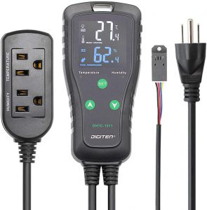reptile thermostat multiple probes Digiten DHTC-1011 temperature and humidity controller